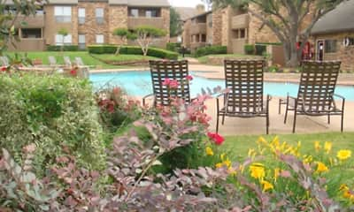 Pool, Sunset Point Apartments, 1