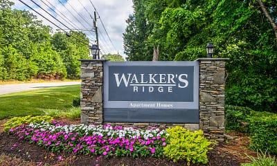 Community Signage, Walker's Ridge, 2
