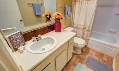 Bathroom, Treehouse Apartments, 2