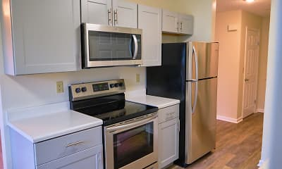 Kitchen, Adams Station Apartments, 0
