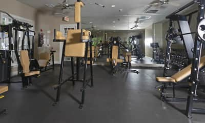 Fitness Weight Room, Villas At Old Concord, 2