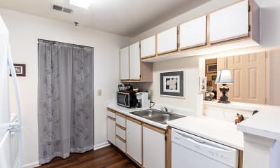 Kitchen, Park Crest Terrace Apartments, 1