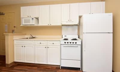 Kitchen, Furnished Studio - Charlotte - Pineville - Pineville Matthews Rd., 1
