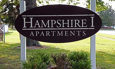 Community Signage, Hampshire I Apartments, 0