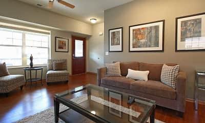 Living Room, Murray Glen Townhomes, 1