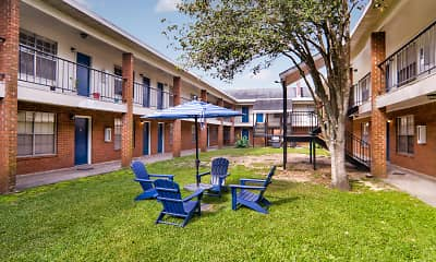 Courtyard, Tiger Pointe Apartments, 1