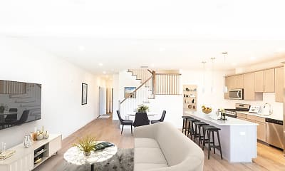 Living Room, Cider Mill Townhomes, 1