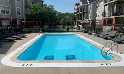 Pool, Village Woods Apartments, 2