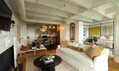 Living Room, 230 West Alabama Apartments, 2