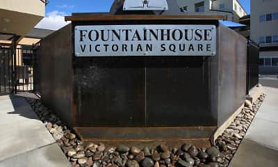 Community Signage, Fountainhouse at Victorian Square, 2