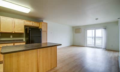 Dining Room, Mercy Heights Apartments, 1