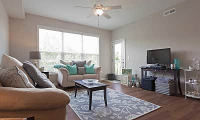 Living Room, North Point Apartments, 1
