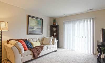 Living Room, Huntington Square Senior Apartments, 1