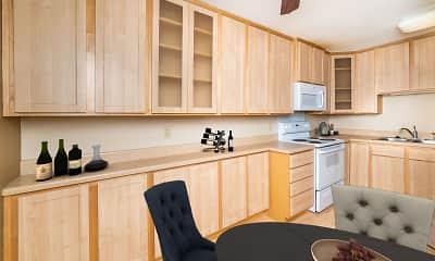 Kitchen, Sun Cliffe Apartments, 0