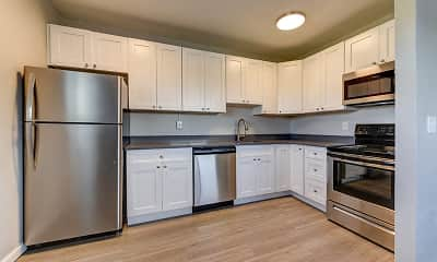 Kitchen, Lamar Station Apartments, 1