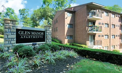 Community Signage, Glen Manor Apartments, 0