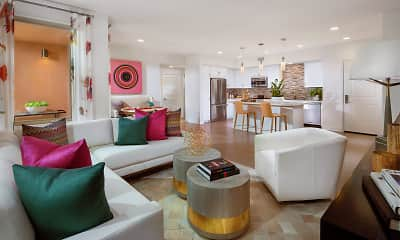 Living Room, Villas at Playa Vista - Montecito, 0