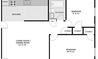 Community Signage, Period Property Management - Elsinore Street Apartments, 2