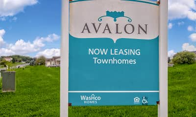 Community Signage, Avalon Townhomes, 2