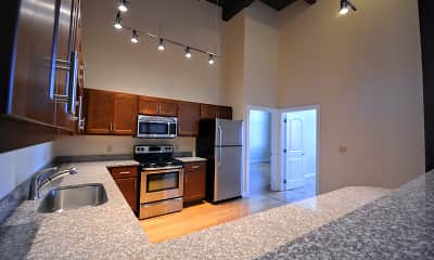 Kitchen, Albany Lofts at One Broadway, 0
