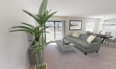 Living Room, Village Gate Apartments, 2