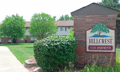 Community Signage, Hillcrest Club Apartments, 0