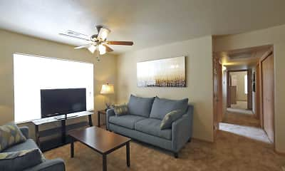 Living Room, Coles Crossing Apartments, 1