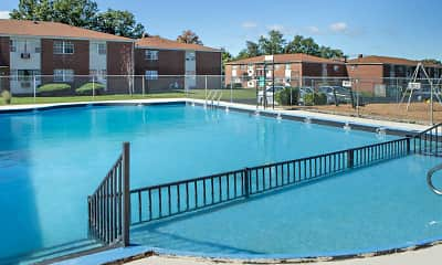 Pool, Stevens Manor Apartments, 1