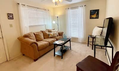 Living Room, Gaslite Apartments, 0
