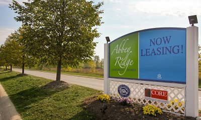 Community Signage, Abbey Ridge Apartment Homes, 2