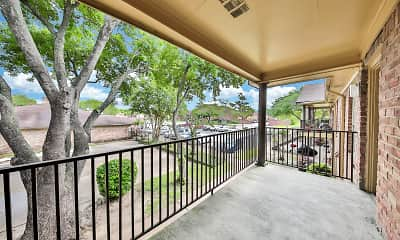 Patio / Deck, Heights at Post Oak, 2