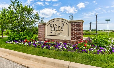 Community Signage, River Hills Apartments, 2