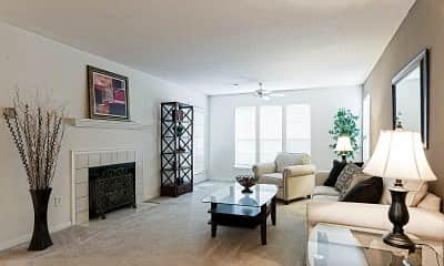 Living Room, Thornhill Apartments, 1