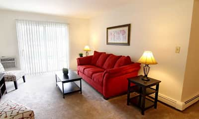 Living Room, Mission Hills Apartments, 1