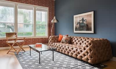 Living Room, Galleria Parc Apartments, 0