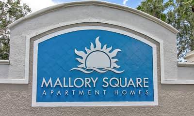 Community Signage, Mallory Square, 2