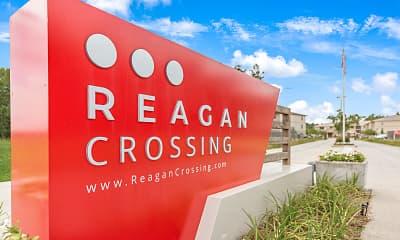 Community Signage, Reagan Crossing, 0