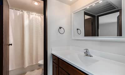 Bathroom, Park Plaza Apartments, 2