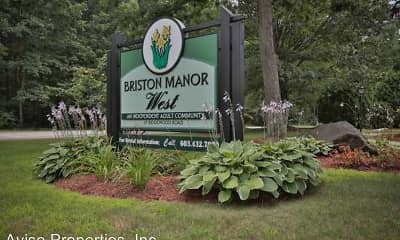 Community Signage, Briston Manor West: 55+ Senior Living, 0