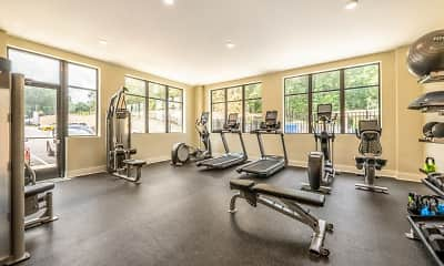 Fitness Weight Room, Ardmore at the Trail, 2