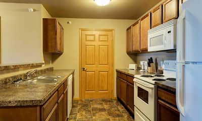 Kitchen, Tioga Square Apartments, 1