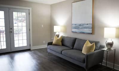 Living Room, Park Terrace Apartments, 1