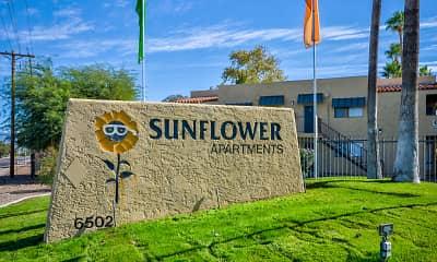 Community Signage, Sunflower Apartments, 2