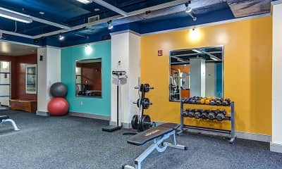 Fitness Weight Room, Century Towers - Per Bedroom Lease, 2