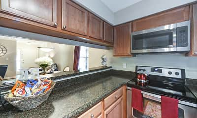 Kitchen, Edwards Mill Townhomes and Apartments, 1