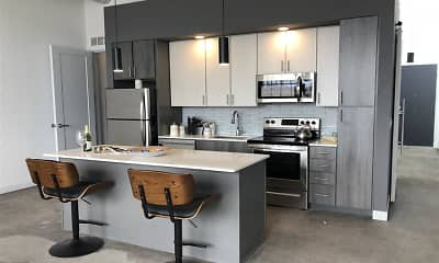Kitchen, Woodward Lofts, 2