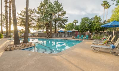 Pool, Parkside Apartment Homes, 2