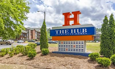 Community Signage, The Hub at Auburn, 2