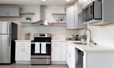 Kitchen, Bleu Apartments, 1
