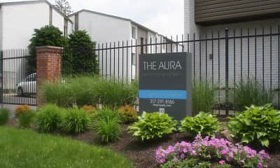 Community Signage, AURA APARTMENTS, 0